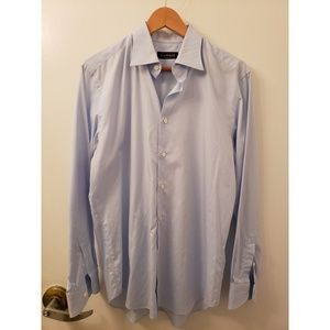 Light Blue Canali dress shirt 39 / 15.5